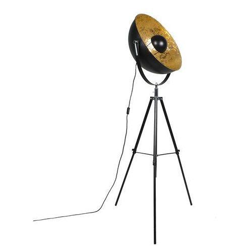 Qazqa Industrialna lampa podłogowa trójnóg czarna 50cm - magna eglip