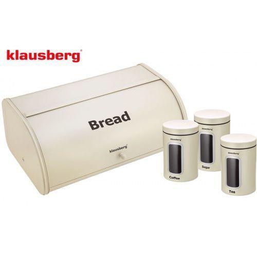 Chlebak w zestawie z 3 pojemnikami [kb-7098-cr] marki Klausberg