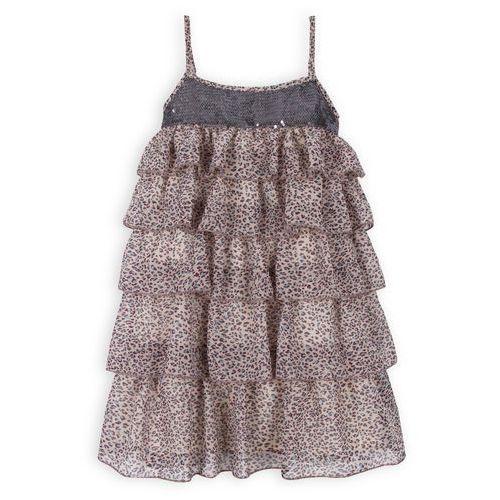 TROIZENFANTS Sukienka Celine w w lamparci wzór (sukienka dziecięca)