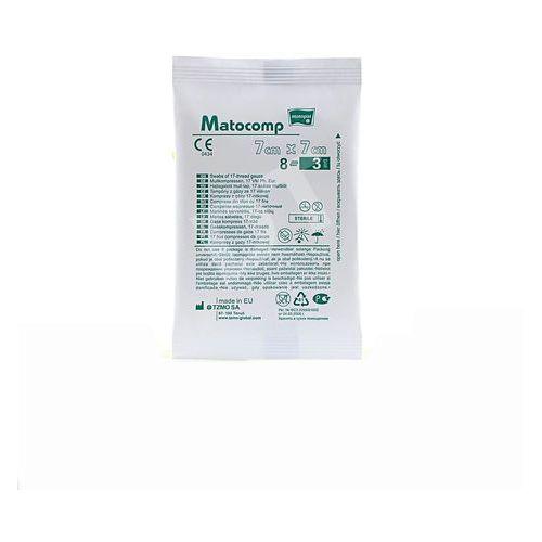 Kompresy z gazy Matocomp jałowe 17N 8W 7cm x 7cm (100 op. x 3 szt.) (5900516701642)