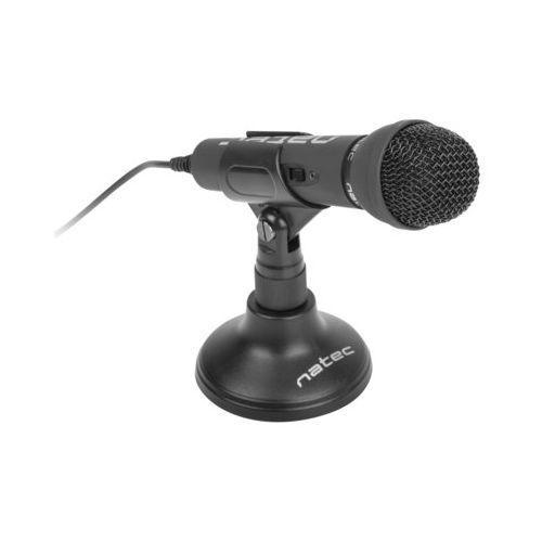Natec mikrofon komputerowy adder czarny (5901969402834)