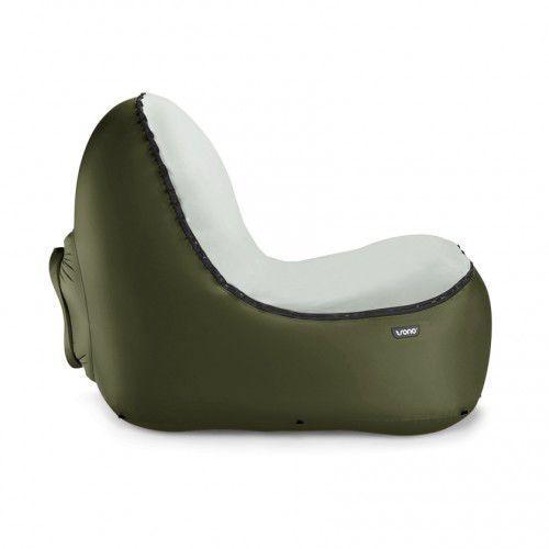 Fotel dmuchany green z welurową nakładką marki Trono