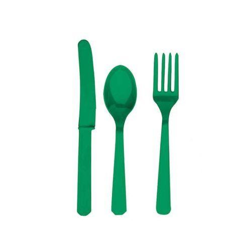 Zestaw sztućców zielonych - 24 szt. marki Amscan