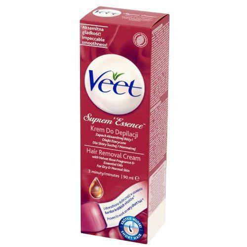 VEET 90ml Suprem Essence Krem do depilacji Zapach aksamitnej róży i olejki eteryczne, Reckitt Benckiser