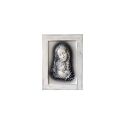 Obraz z Matką Bożą Maryją ze skóry - Na prezent ślubny - S3-12