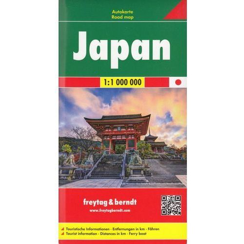 Japonia mapa 1:1 000 000 Freytag & Berndt, oprawa twarda