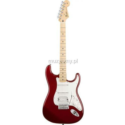 standard stratocaster hss candy apple red gitara elektryczna, podstrunnica klonowa marki Fender