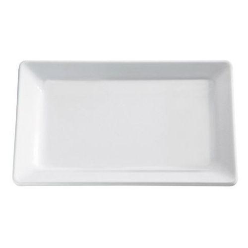 Półmisek prostokątny z melaminy | biały | różne wymiary