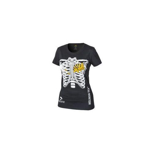 t-shirt Helikon damski kameleon w klatce piersiowej czarny (TS-WCT-CO-01), kolor czarny
