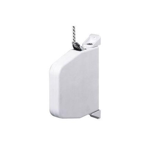 Miniaturowy, uchylny zwijacz do montażu natynkowego, z linką o dł. 5 m, biały