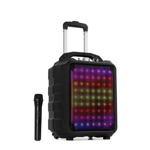 """Auna moving 80.1 led zestaw pa 8"""" woofer 100w mikrofon uhf usb sd bt aux mobilny (4060656111099)"""