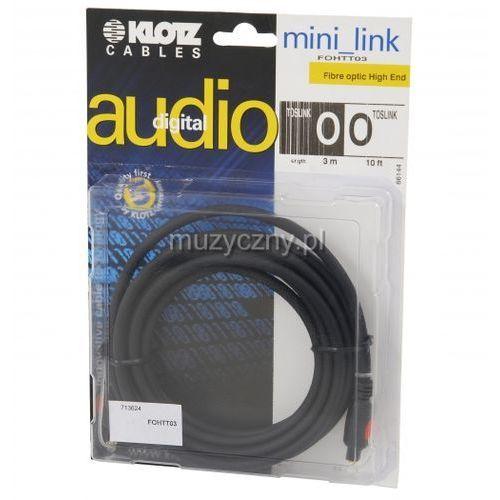 Klotz FO H TT03 3m toslink/toslink kabel