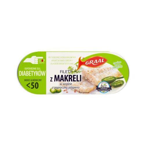 Graal 110g filety z makreli w wodzie z papryczką jalapeno diabetyk