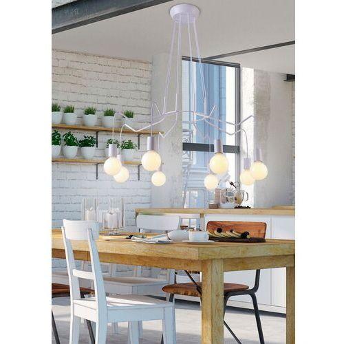 Candellux Lampa wisząca basso 38-71040 metalowa oprawa zwis industrialny pająk biały (5906714871040)