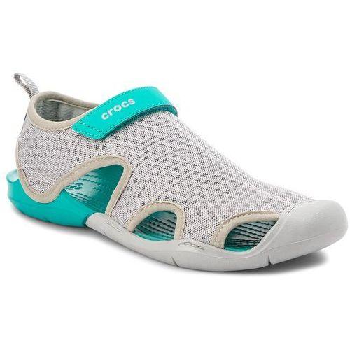 Sandały CROCS - Swiftwater Mesh Sandal W 204597 Light Grey, kolor szary