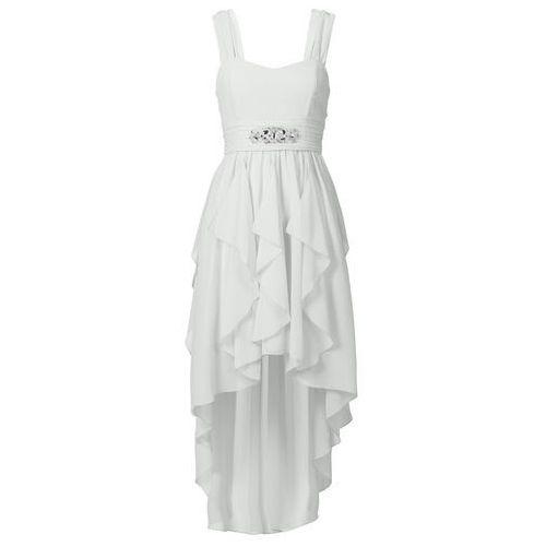 Sukienka bonprix biel wełny