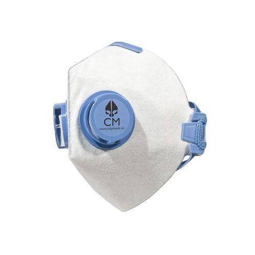 Higieniczna półmaska antysmogowa z węglem aktywnym biało-niebieska marki Citymask