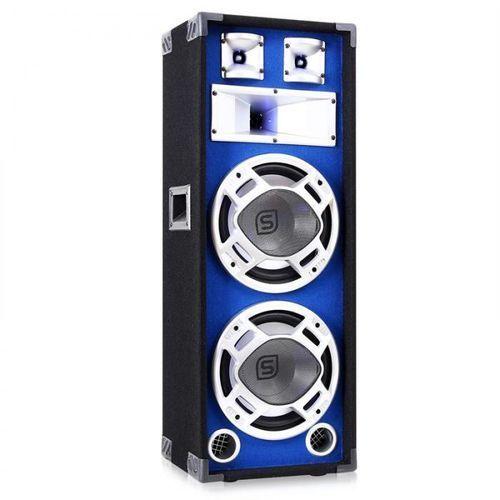 Skytec Kolumna pa 2 x 25 cm 800 w niebieska efekt świetlny