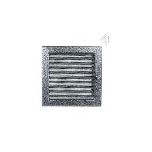 Kratka kominkowa malowana czarno-srebrna 22x22 z żaluzją, 6674-898A9_20130202135245