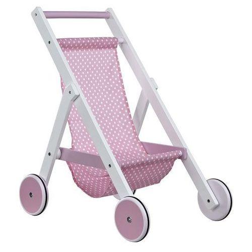 Drewniany Wózek dla Lalek Róż, Kids Concept z Jedyny Sklep