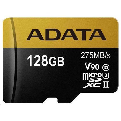 Adata Karta microsd adata microsdxc 128gb class 10 read/write 275/155mbps - ausdx128guii3cl10-ca1 darmowy odbiór w 20 miastach!