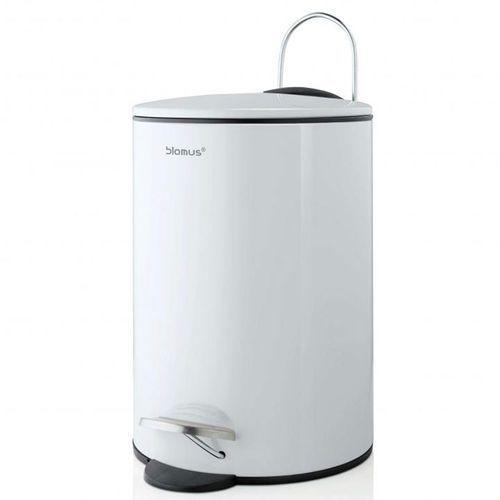 Kosz na śmieci 3 litry Blomus TUBO - white stal lakierowana (4008832689451)