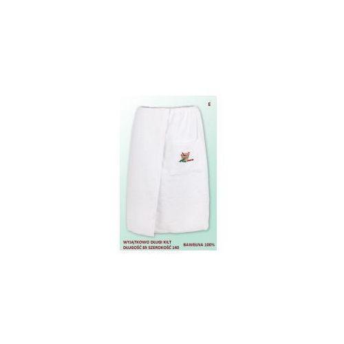 Sauna kilt ręcznik biały 100% bawełna uniwersalny 85*140 z logo, kolor biały
