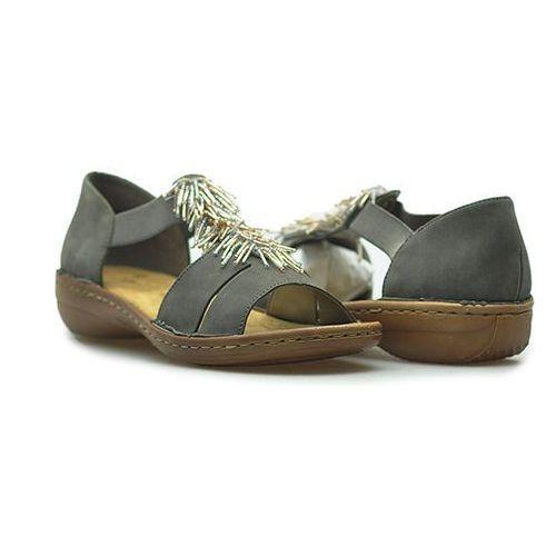 Sandały Rieker 608F2-45 Szare
