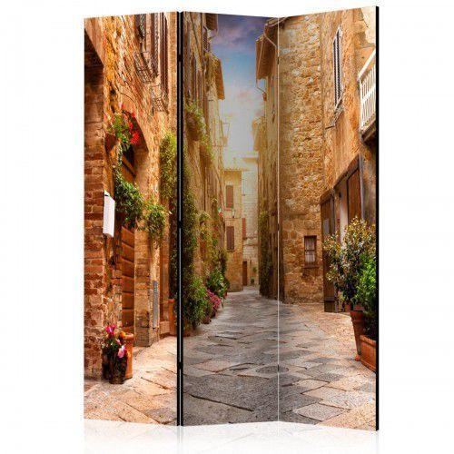 Artgeist Parawan 3-częściowy - kolorowa uliczka w toskanii [room dividers]