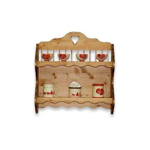 Półka wisząca z drewna świerkowego Mexicana 4 - sprawdź w Seart - Meble z Drewna
