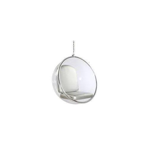D2.design Fotel bańka transparent/czarna poduszka (5902385715201)