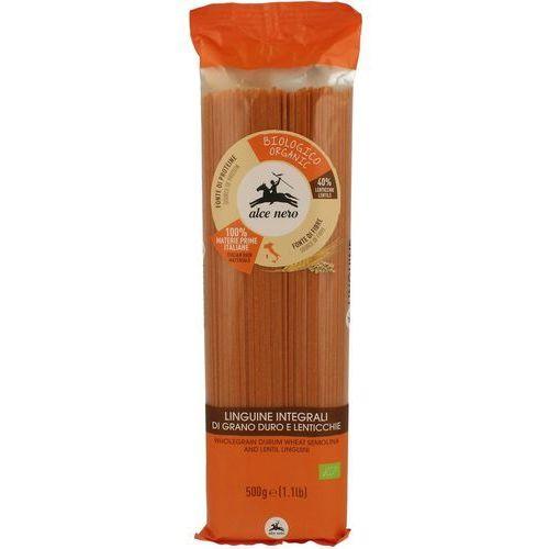 Makaron (semolinowy z czerwoną soczewicą) spaghetti bio 500 g - alce nero marki Alce nero (włoskie produkty)