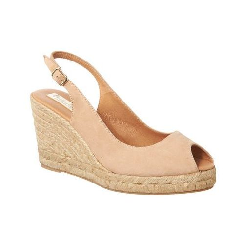 Phase eight suede sling back wedge espadrille