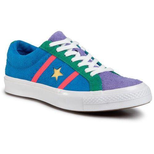 Tenisówki CONVERSE - One Star Academy Ox 164392C Totally Blue/Racer Pink/White, w 7 rozmiarach