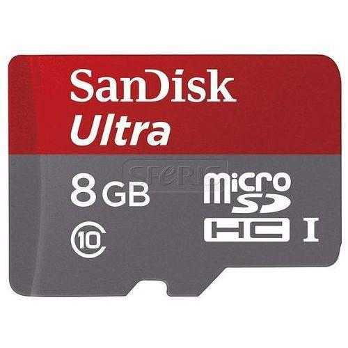 Karta Sandisk microSDXC ULTRA 48MB/s Class 10 + Adapter SD + Memory Zone Android App 8GB SDSDQUAN-008G-G4A - odbiór w 2000 punktach - Salony, Paczkomaty, Stacje Orlen (karta pamięci) od Sferis.pl