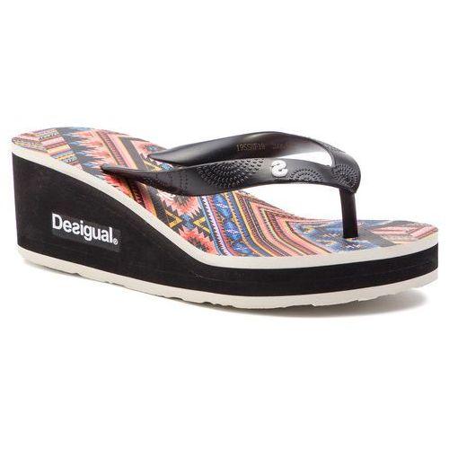 Desigual Japonki - shoes lola mexican 19sshf19 2000 czarny