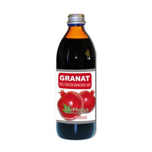 Eka Medica Granat Sok z granatowca 100% 1000ml, EKOMEDICA