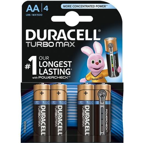 Bateria DURACELL Turbo PowerCheck LR6/AA MN1500 K4, MN1500