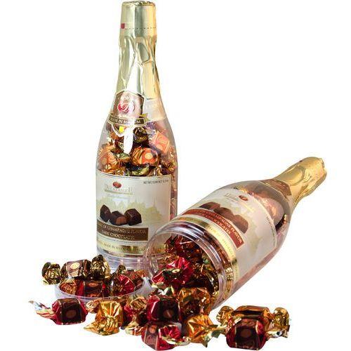 Delafaille Belgijskie pralinki cubix marc de champagne w butelce 350g