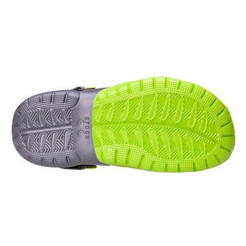 Crocs Klapki swiftwater clog graphite volt green m202251-328