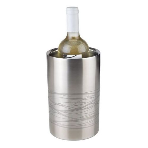 Schładzacz do butelek ze stali nierdzewnej o średnicy 120 mm, satynowy | APS, Lines