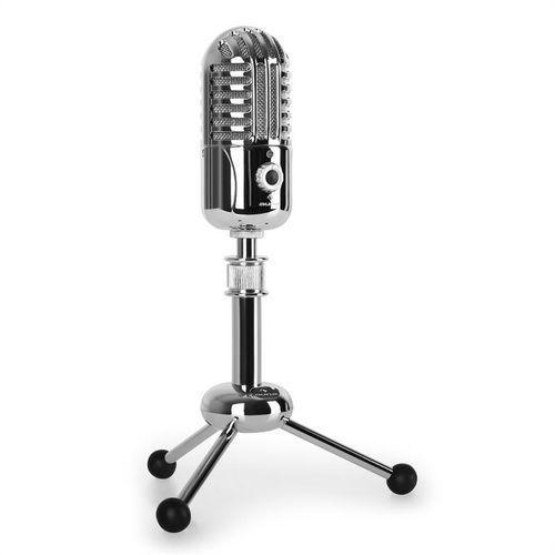 Auna CM280, mikrofon pojemnościowy USB, srebrny,