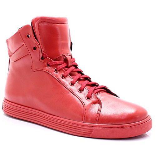 KENT 306S CZERWONE - Wysokie buty ze skóry - Czerwony