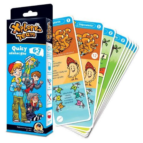 Xplore Team Quizy edukacyjne 6-7 lat, oprawa kartonowa