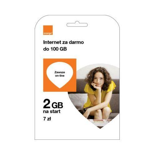 Starter free na kartę 2 gb 7zł marki Orange