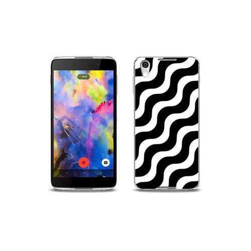 etuo Fantastic Case - Blackberry DTEK50 - etui na telefon Fantastic Case - biało-czarna fala, kolor Fantastic