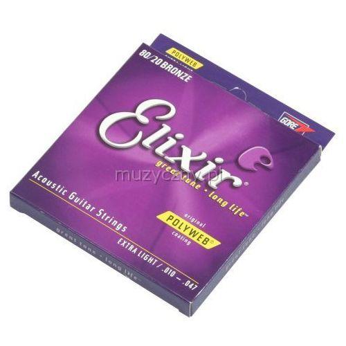 11000 pw extra light 80/20 bronze struny do gitary akustycznej 10-47 marki Elixir