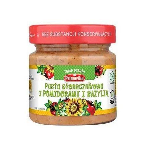 Pasta Słonecznikowa z Pomidorami i Bazylią 160g Primavika, 11PRJPARSR