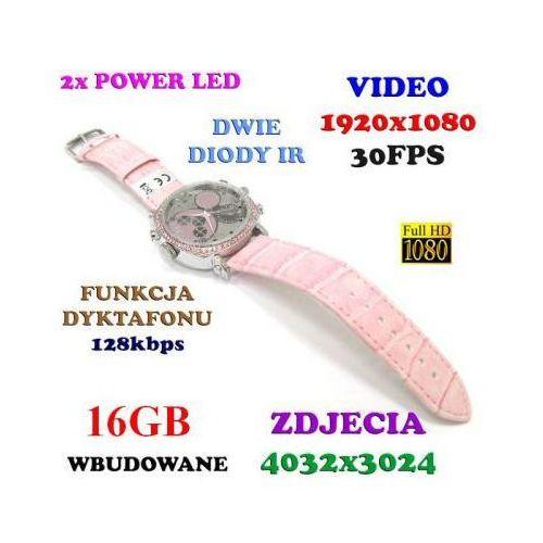 Szpiegowski Damski Zegarek na Rękę FHD (16GB), Nagrywający Dźwięk i Obraz + Rejestrator Dźwięku +..., 5901751295489