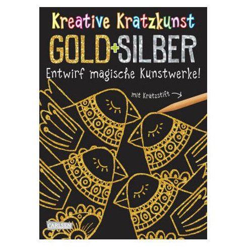 Kreative Kratzkunst: Gold und Silber: Set mit 10 Kratzbildern, Anleitungsbuch und Holzstift (9783551187468)